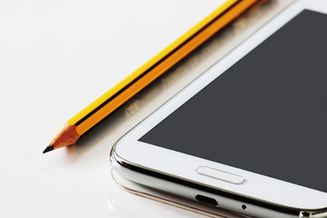 Pencil and smartphone