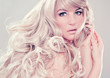 canvas print picture - fashion shots 12_2-wonderful blond hair