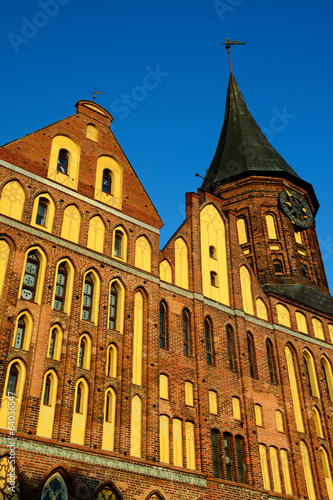 Koenigsberg Cathedral at sunset. Kaliningrad, Russia