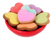 Love cookies shaped as hearts