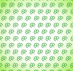 pattern from clover leaves for design by day of St  Patricks Day