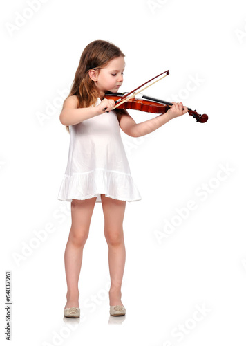 little girl with violin