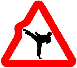 attention karate sign