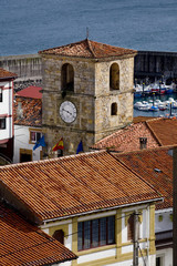 Clock Tower in Lastres, Asturias, North Spain.