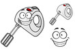 Smiling happy electrical egg beater