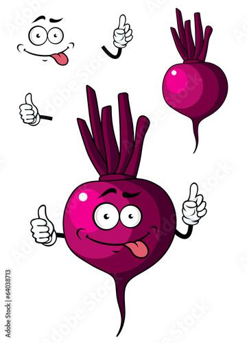Cartoon beetroot vegetable