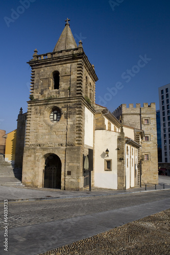 Colegiata of Saint John the Baptist in Gijón, Spain.