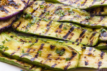 Grilled Eggplant and Zucchini Salad