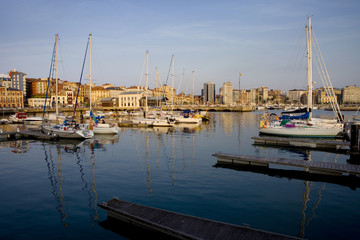 Port of Gijón, Asturias, Spain