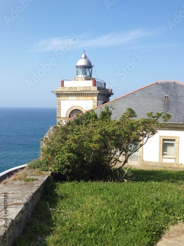 Lighthouse in Luarca, Asturias - Spain