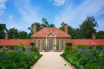 Gardens at Mount Vernon plantation