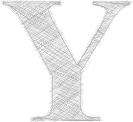 Freehand Typography Letter Y