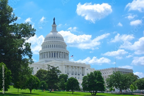 Front of the US Capitol Building - 64040902
