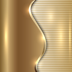 Vector abstract beige background with curve and stripes