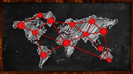 World Dot Red Connection on Blackboard