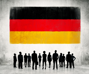 Business People with German Flag