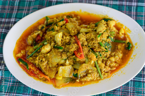 Frid Crab Meat in Curry