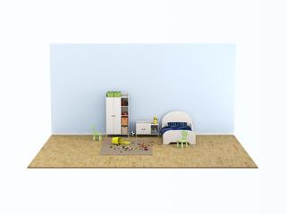 mini kids bed room