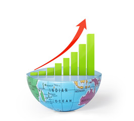 Global success concep on Earth