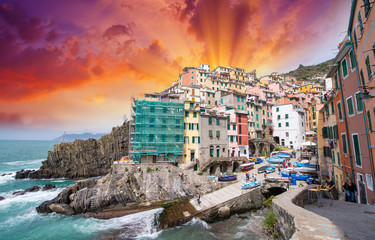 Wonderful Coast of Riomaggiore, Cinque Terre - Italy