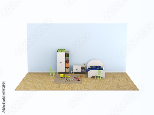 mini kids bed room