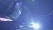Welding a steel parts with gas arc welding