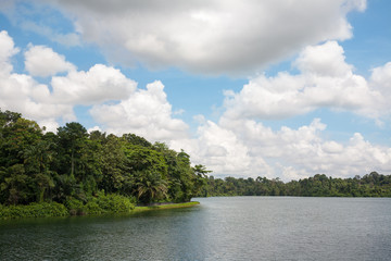 Upper Seletar Reservoir in Singapore