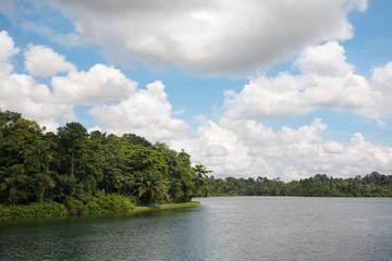 Upper Seletar Reservoir in Singapore