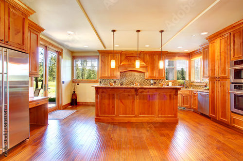 Spacious kitchen room with island