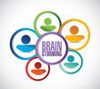 diverse team brainstorming concept illustration