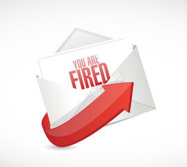 you are fired message mail illustration design