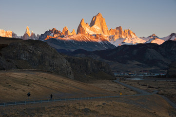 Fitz Roy Mountain at sunrise, El Chalten, Patagonia, Argentina