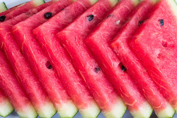 Fresh slices of ripe  sweet watermelon.