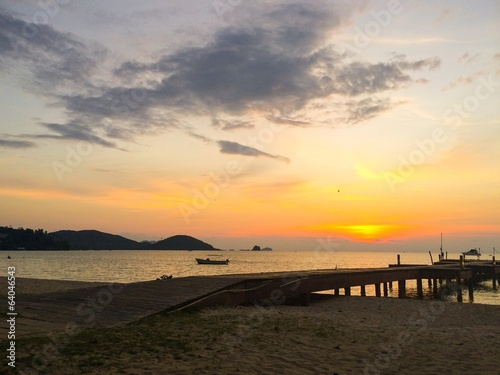 Sunset at Koh Mak island,Thailand