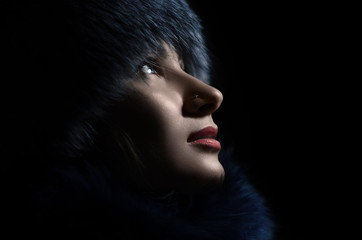 Girl in furs.