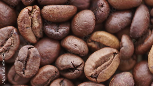 Loop able background of coffee beans
