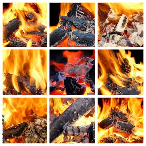 Burning Flames Collage