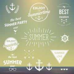 Retro elements for Summer Vintage labels