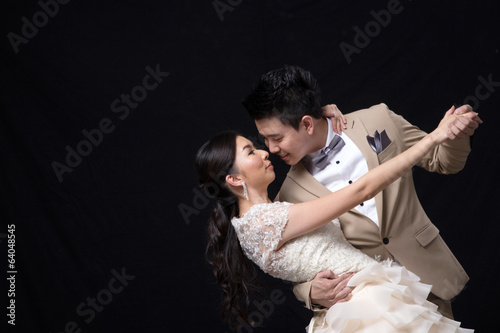 Asian bride and groom wedding
