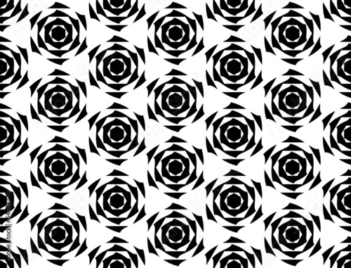 Design seamless monochrome diamond geometric pattern