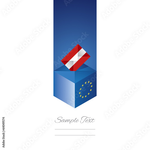 EU elections in Austria vector