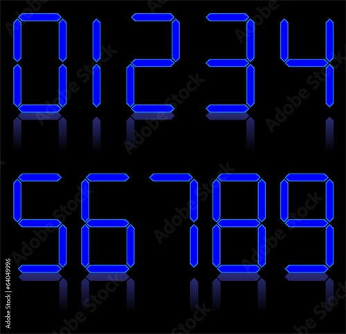 Digital numbers. Vector
