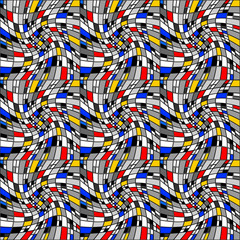 Design seamless colorful mosaic pattern