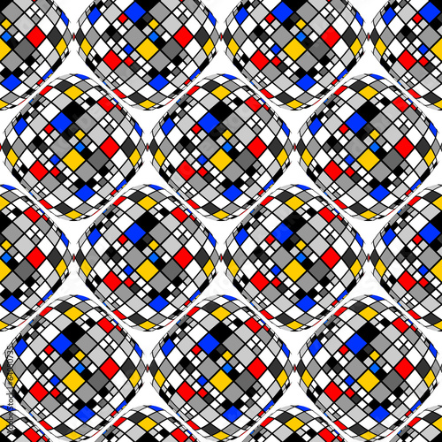 Design seamless colorful mosaic geometric pattern