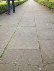 walking on pavement