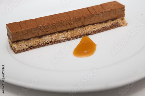 Chocolate Wafer Desert with Butterscotch Sauce