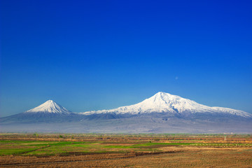 Mountain Ararat , Ararat valley , Armenia