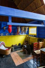 Interieur van een vissershuis in Marken