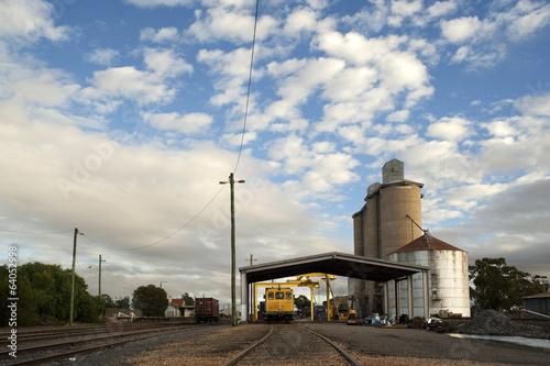 Silos at railway