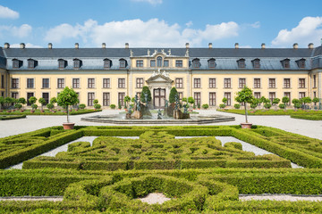 The old palace of Herrenhausen gardens, Hannover, Germany